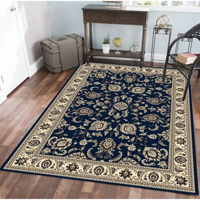 Weiser Traditional Blue Oriental Area Rug Rug Size: Rectangle 910 x 1210