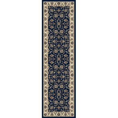 Weiser Traditional Blue Oriental Area Rug Rug Size: Runner 22 x 77