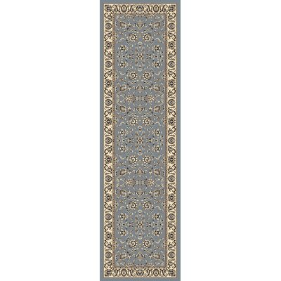 Weiser Rectangle Blue Area Rug Rug Size: Runner 22 x 77