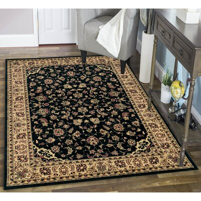 Columbus Black/Brown Area Rug Rug Size: 67 x 95