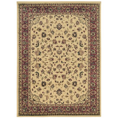 Columbus Ivory/Brown Area Rug Rug Size: Rectangle 910 x 1210