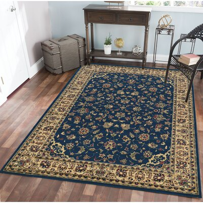 Columbus Navy/Ivory Area Rug Rug Size: Rectangle 67 x 96
