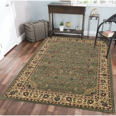 Columbus Yellow/Ivory Area Rug Rug Size: 67 x 95