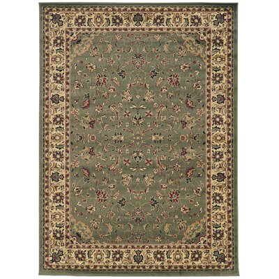 Columbus Yellow/Ivory Area Rug Rug Size: Rectangle 55 x 77
