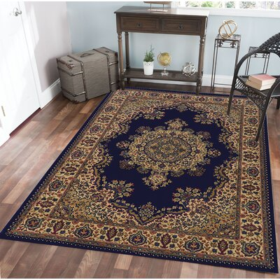 Northington Blue Area Rug Rug Size: 55 x 77