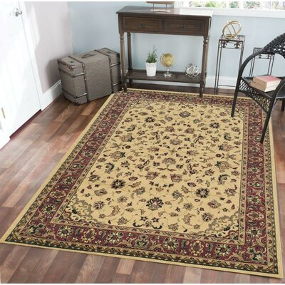 Columbus Ivory/Brown Area Rug Rug Size: 67 x 95