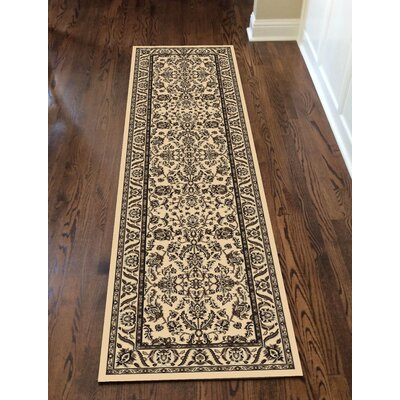 Weiser Traditional Ivory Area Rug Rug Size: Runner 22 x 77