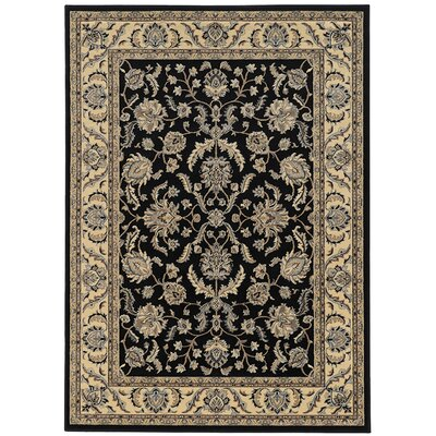 Windsor Black Area Rug Rug Size: Runner 22 x 77