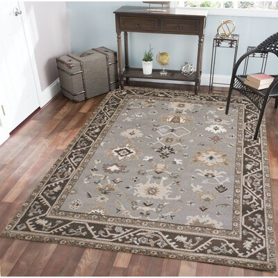 Avery Gray Area Rug Rug Size: Rectangle 53 x 73