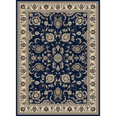 Windsor Blue Area Rug Rug Size: 910 x 1210