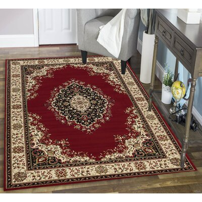 Colebrook Red Area Rug Rug Size: Rectangle 33 x 411