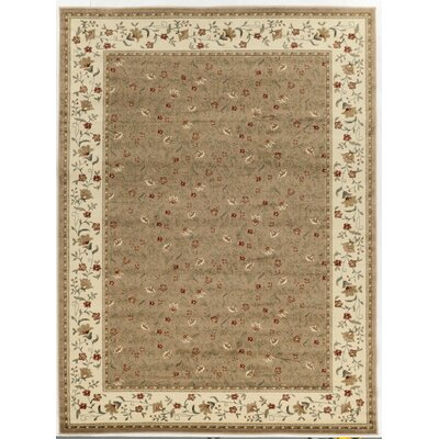 Colebrook Beige Area Rug Rug Size: Rectangle 55 x 77