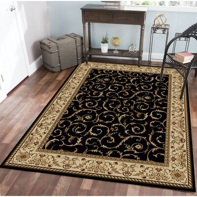 Weisgerber Black Area Rug Rug Size: Rectangle 910 x 1210