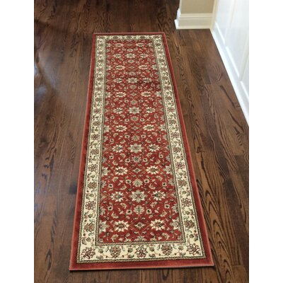Colebrook Brick Area Rug Rug Size: Runner 2'2
