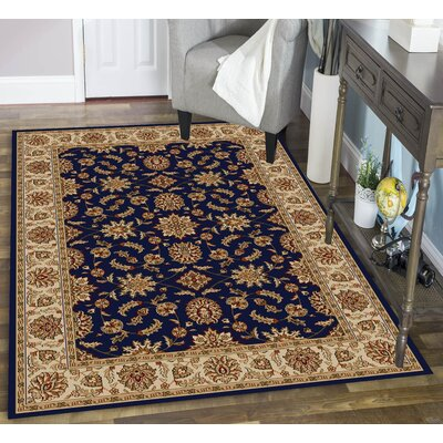 Colebrook Navy Area Rug Rug Size: Rectangle 910 x 1210