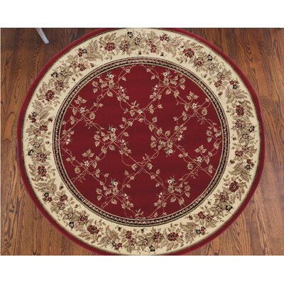Westminster Red Area Rug Rug Size: Round 53
