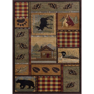 Victor Brown Area Rug Rug Size: 53 x 73
