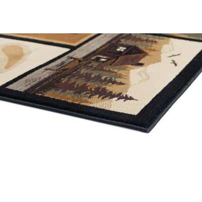 Haddam Brown Area Rug Rug Size: 710 x 103