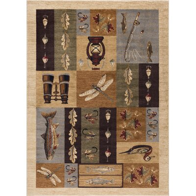 Tilson Brown Area Rug Rug Size: 53 x 73