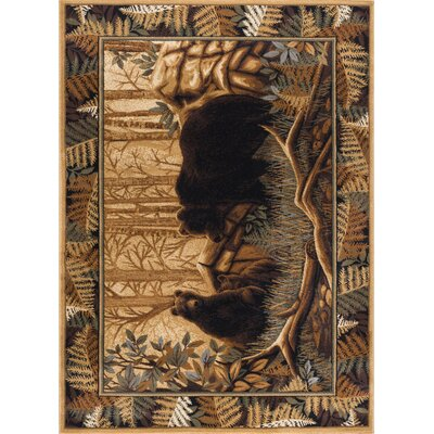 Josephine Beige/Brown Area Rug Rug Size: Rectangle 5 x 8