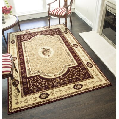 Gloucester Red Area Rug Rug Size: Rectangle 710 x 1010