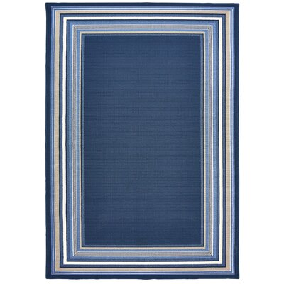Lindsay Navy Blue Indoor/Outdoor Area Rug Rug Size: 67 x 96