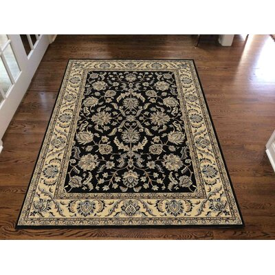 Weiser Rectangle Black Area Rug Rug Size: Rectangle 79 x 11