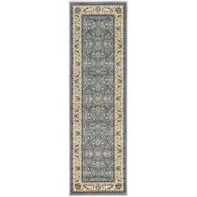 Newport Gray/Blue Area Rug Rug Size: Runner 22 x 77