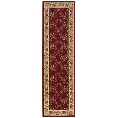 Westminster Red Area Rug Rug Size: Runner 22 x 77