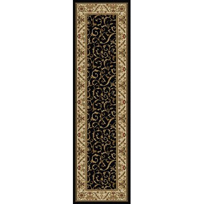 Weisgerber Black Area Rug Rug Size: Runner 22 x 77