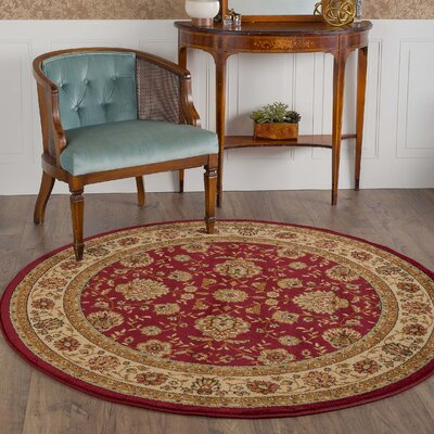Lapp Red Area Rug Rug Size: Round 710