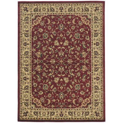 Columbus Burgundy/Brown Area Rug Rug Size: Rectangle 67 x 95