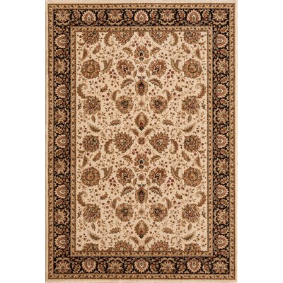 Dexter Wheat/Black Area Rug Rug Size: Round 53