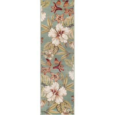 Murphy Teal Area Rug Rug Size: Runner 23 x 77