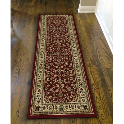 Columbus Burgundy/Brown Area Rug Rug Size: 67 x 95