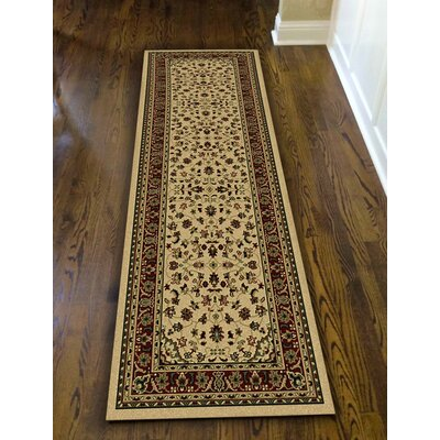 Columbus Ivory/Brown Area Rug Rug Size: Runner 2'2