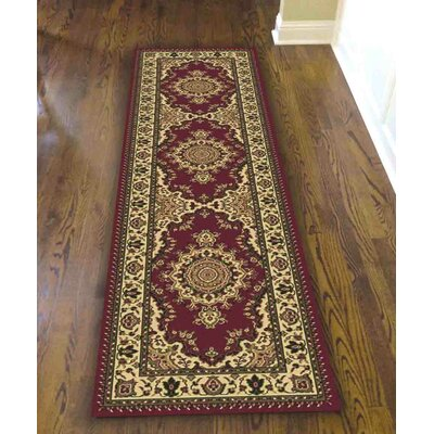 Northington Burgundy Area Rug Rug Size: Runner 22 x 77