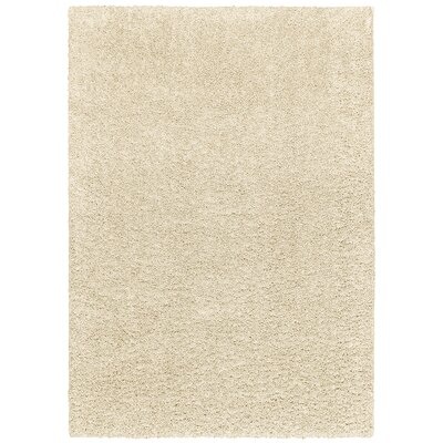 Vanessa Hand-Tufted White Area Rug Rug Size: Rectangle 75 x 96