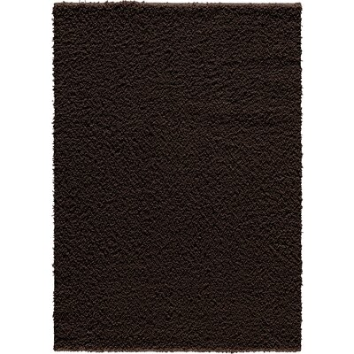 Vanessa Hand-Tufted Chocolate Area Rug Rug Size: Rectangle 5 x 7