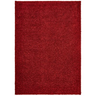 Vanessa Hand-Tufted Red Area Rug Rug Size: Rectangle 5 x 7