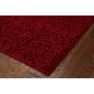 Vanessa Hand-Tufted Red Area Rug Rug Size: Rectangle 75 x 96