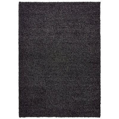 Vanessa Hand-Tufted Black Area Rug Rug Size: Rectangle 5 x 7