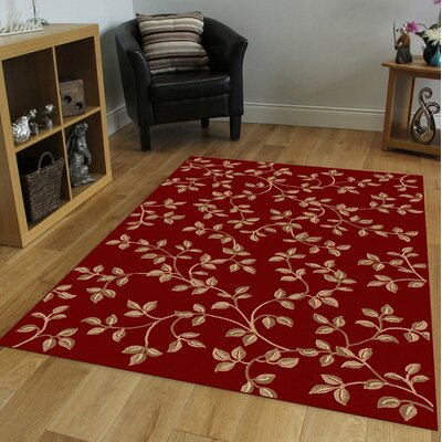 Stamford Red Area Rug Rug Size: Rectangle 55 x 77