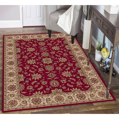 Colebrook Red Area Rug Rug Size: Rectangle 7'9