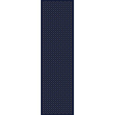Colebrook Navy Blue Area Rug Rug Size: Runner 22 x 77