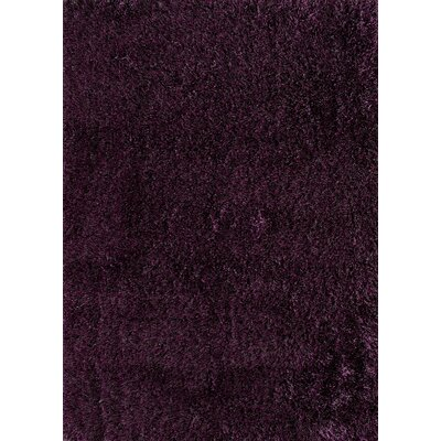 Cedric Hand-Woven Plum Area Rug Rug Size: Rectangle 5 x 7