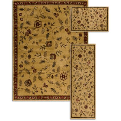 Penfield Beige 3 Piece Area Rug Set
