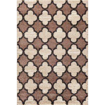 Hamilton Pearl/Cocoa Area Rug Rug Size: 5 x 73