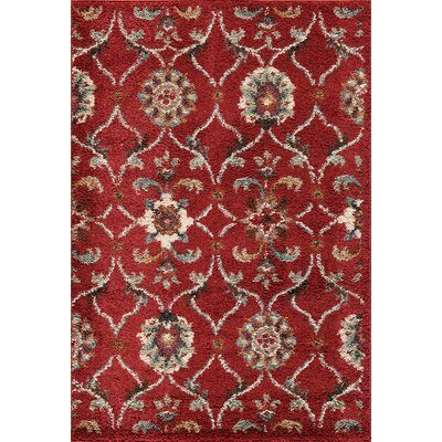Hamilton Red Area Rug Rug Size: Rectangle 710 x 910