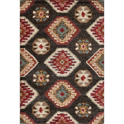 Hamilton Black/Red Area Rug Rug Size: 710 x 910
